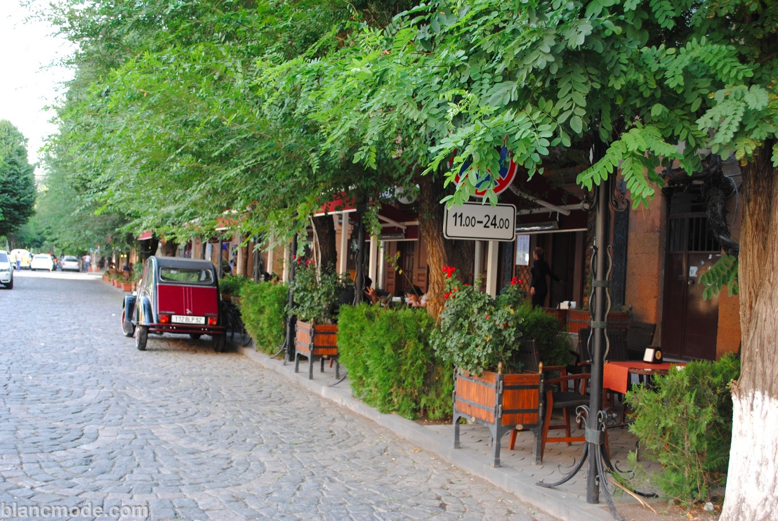 side street at the bottom of cascade in yerevan