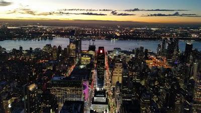 Vistas de Nueva York de noche desde el Empire State