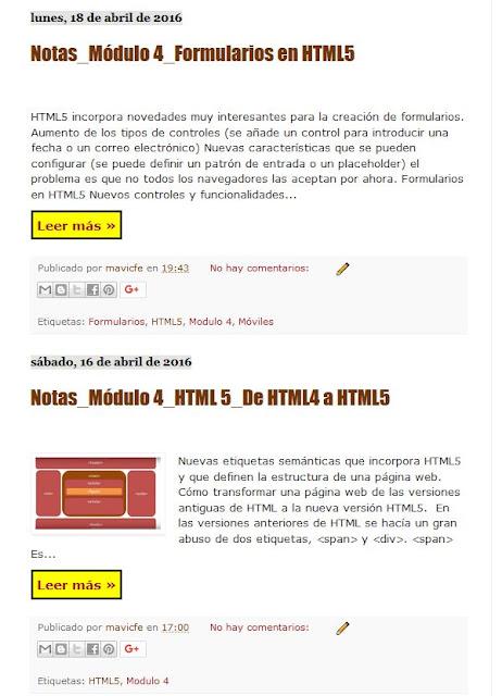 Resumen de entradas en Blogger_Formato salto de página