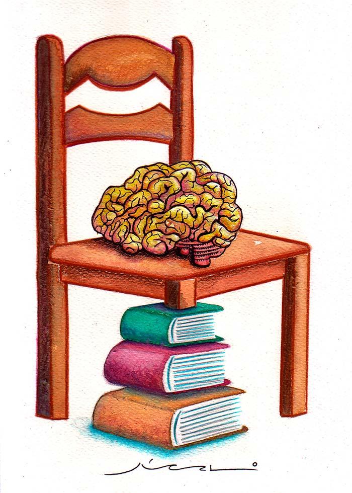 """Líneas y Letras, """"Silla"""", viñeta de humor gráfico de Júcalo (Juan Camilo Lopera Arroyave)"""