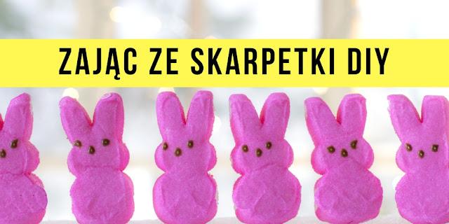 Zajączek Wielkanocny Ze Skarpetki DIY!