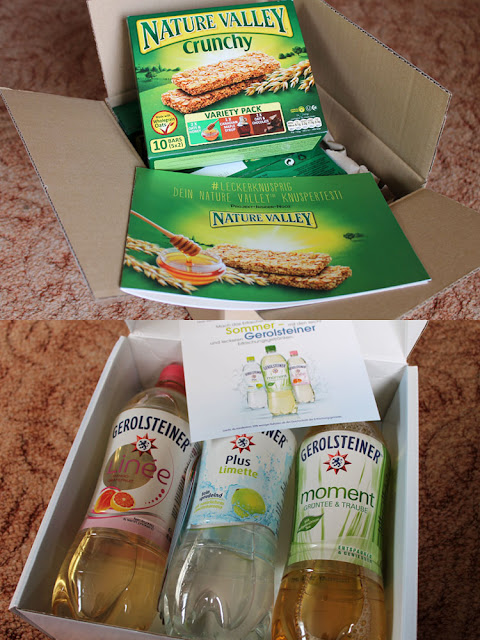 Testpakete mit Nature Valley Crunchy Riegeln und Gerolsteiner Getränken