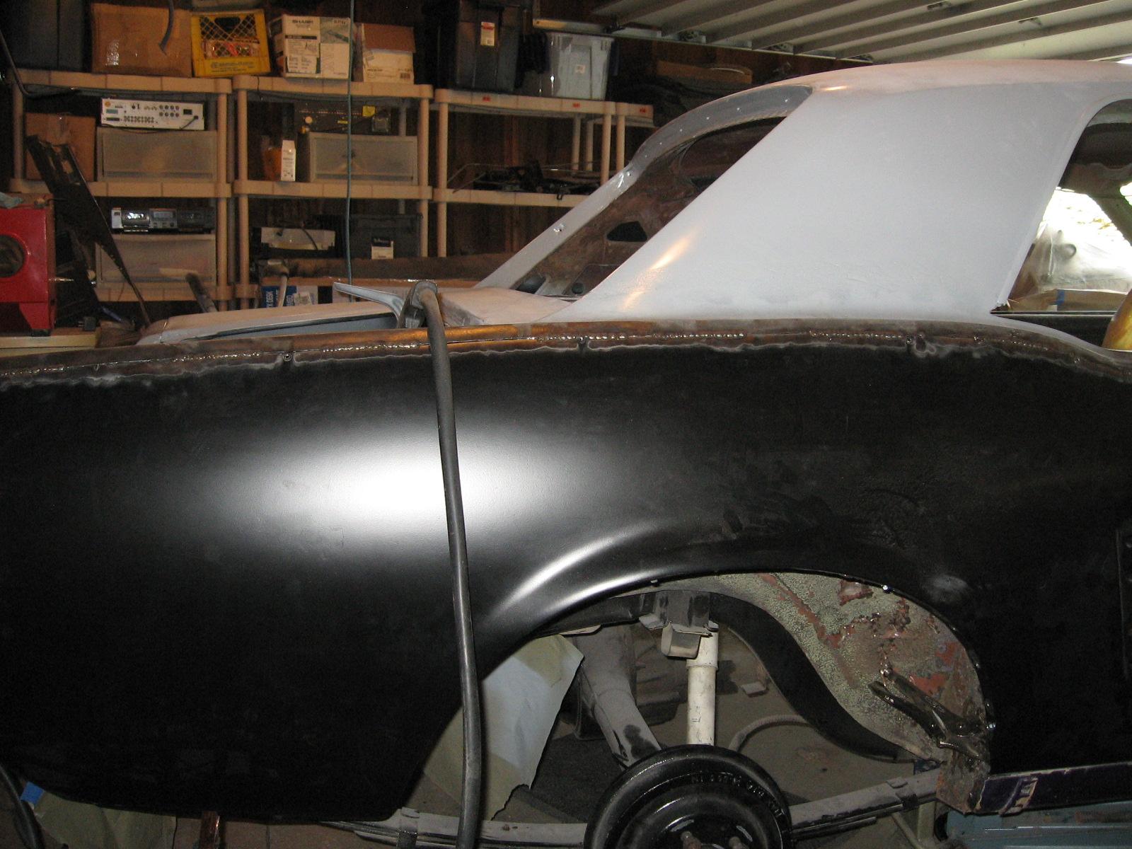 1967 Mustang Restoration Replacing A Quarter Skin