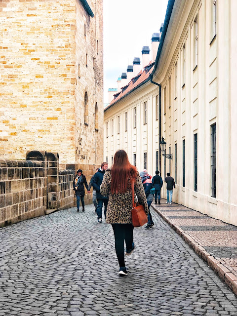 exploring the grounds of Prague Castle