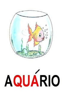 Cartaz sílaba complexa aquário