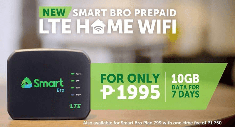 Smart Bro Prepaid LTE Home WiFi Announced