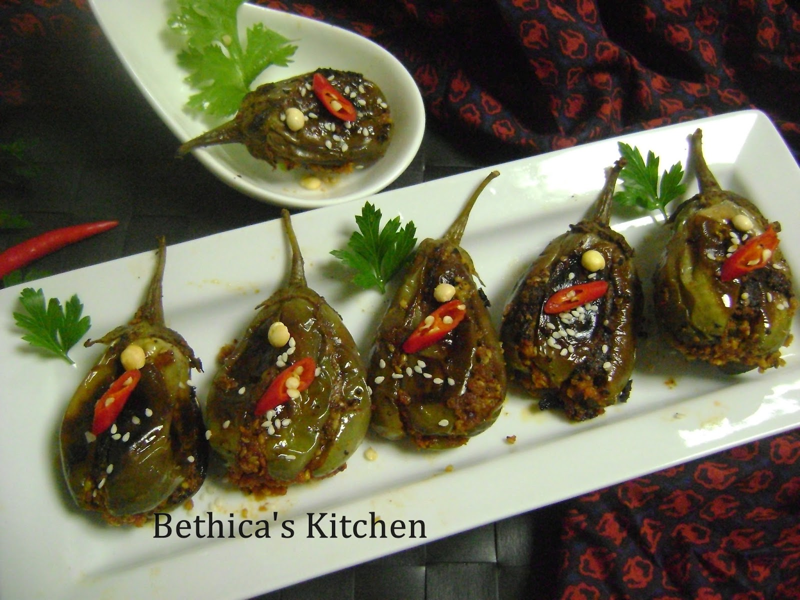 Bethicas kitchen flavours raw mango stuffed baby eggplants 8 10 small eggplants forumfinder Images