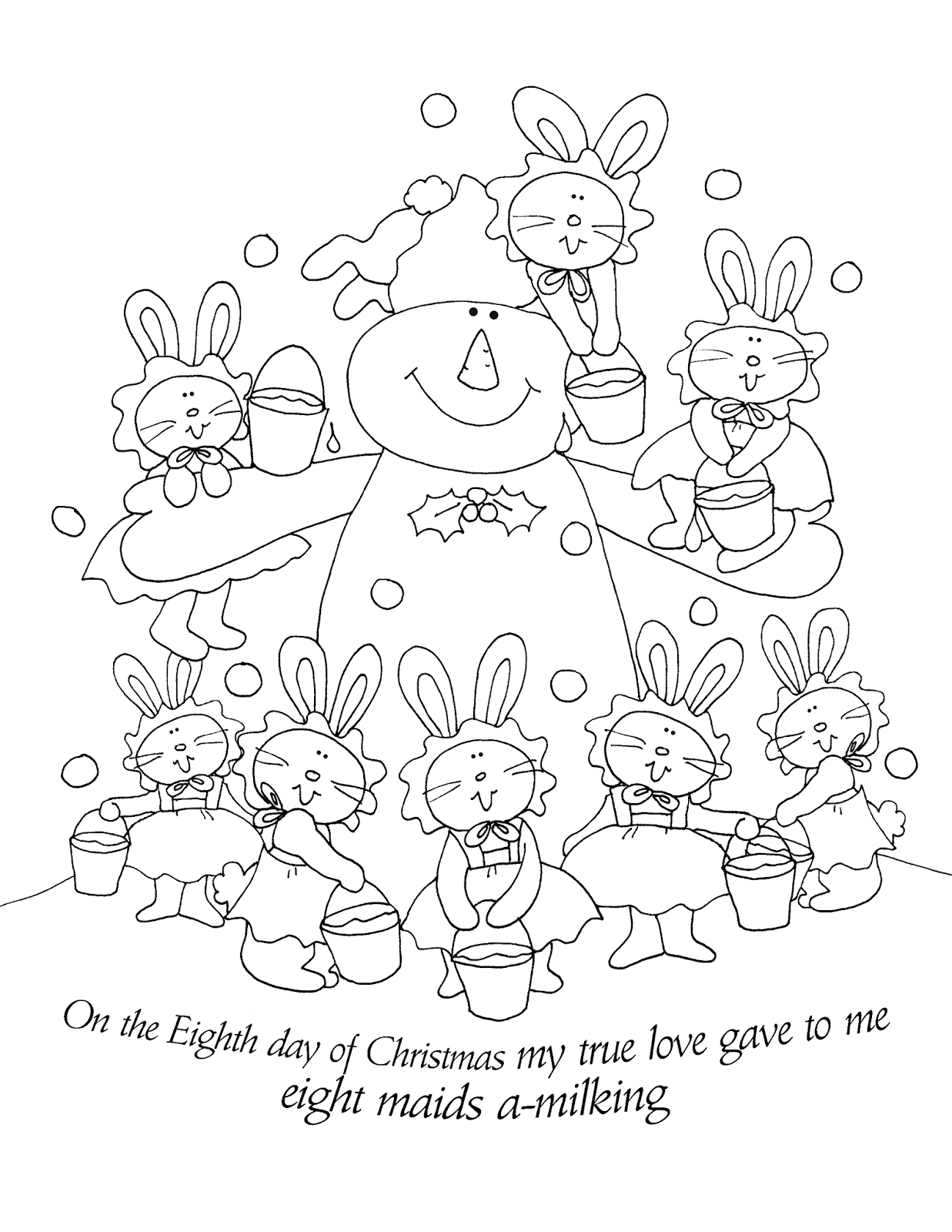 Free Dearie Dolls Digi Stamps: The Eighth Day of Christmas