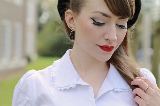 Sourpuss Lolita shirt in white