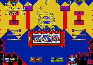 Sonic 2 casino night slots