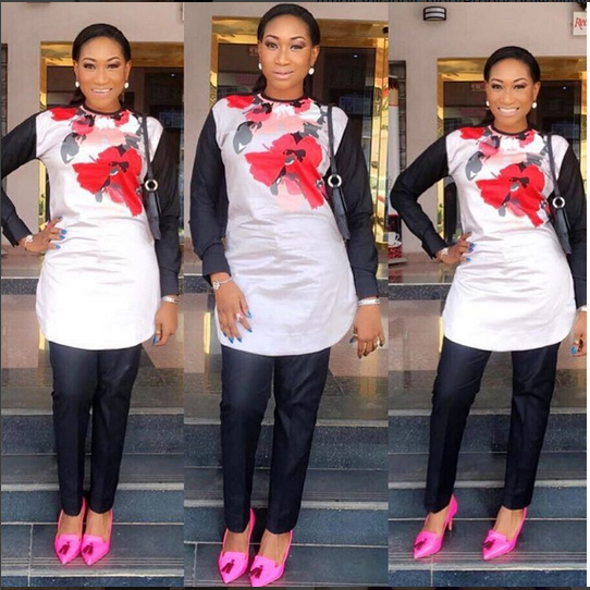 Actress Oge Okoye Sizzles In Senator Suit To A Film Premeire In Awka, Bags An Award
