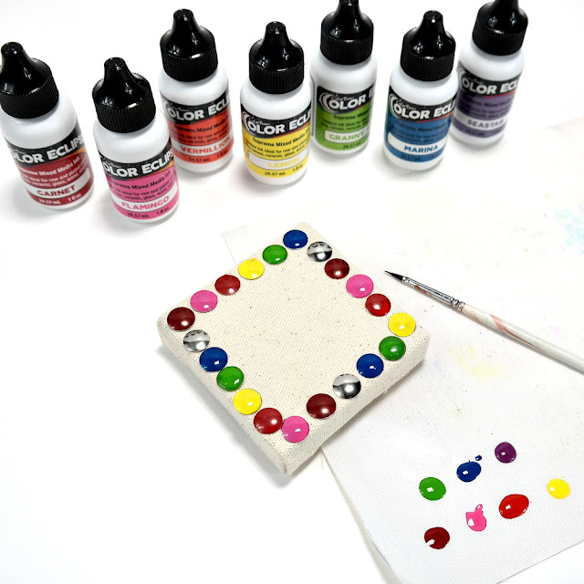 How to Paint Metal Tacks a Rainbow of Colors Using ColorBox Color Eclipse Mixed Media Ink
