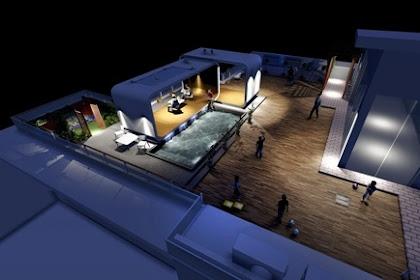Jasa desain roofgarden pencahayaan view malam secara online