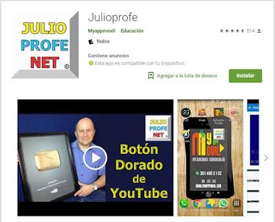 Aplicación de JulioProfe Google Store