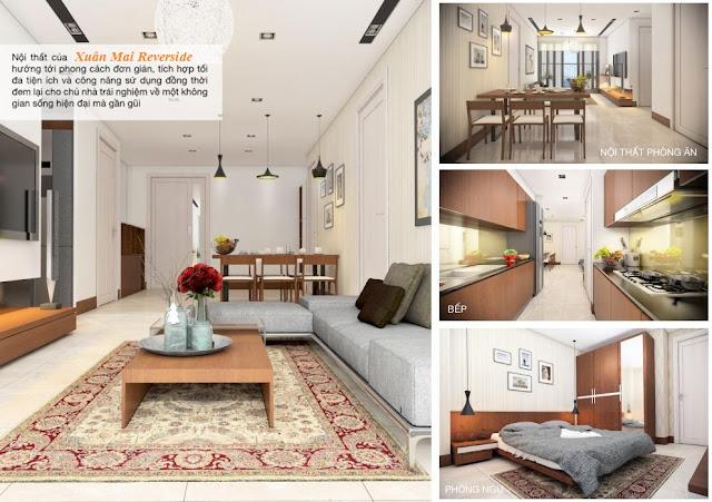 Thiết kế mẫu của căn hộ Xuân Mai Riverside