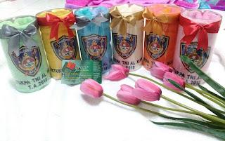 Souvenir Handuk Kemasan Tabung Mika untuk souvenir acara, seremonial dan gathering