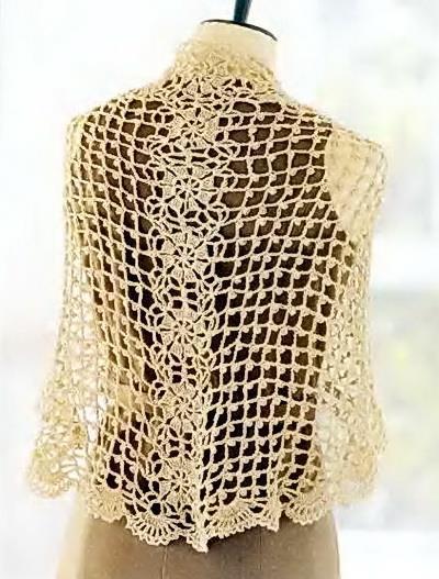 Crochet Shawls: Crochet Lace Shawl Pattern for Summer ...