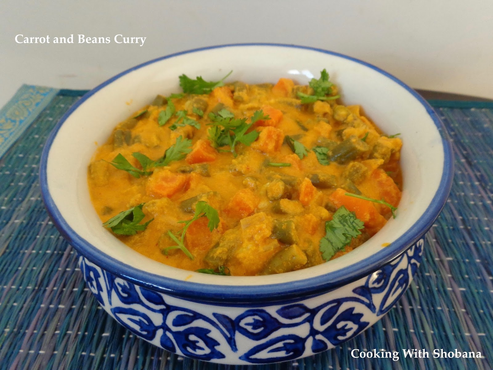 Cooking with shobana carrot and beans curry when adding salt remember that the carrots and beans have already been cooked in a little salt forumfinder Choice Image