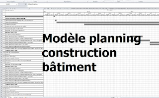 Exemple de mod le planning travaux construction b timent excel cours g nie civil outils for Construction chambre froide pdf