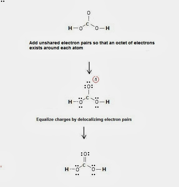 Lewis Dot Structure Of Carbonic Acid H2co3 Chemistry Net