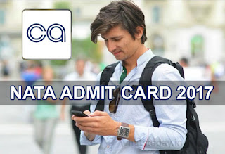 NATA Admit Card 2017, NATA Hall Ticket 2017, NATA 2017 Admit Card