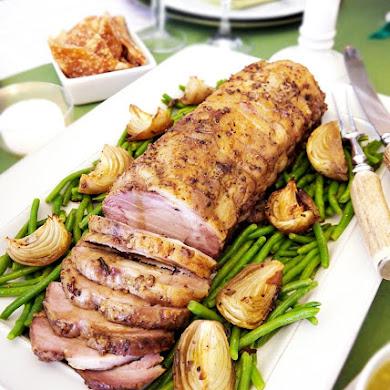 Recette de porc rôti aux herbes et à la moutarde