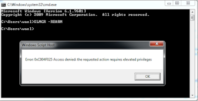 0xc004f025 access denied the requested action requires elevated privileges