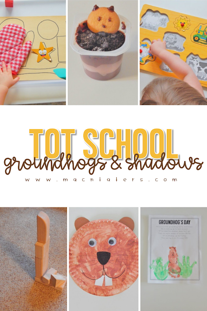 Groundhogs Day Tot School Theme This post is packed full of Groundhog's Day & Shadows themed learning activities for toddlers. This weekly tot school curriculum features books, fine motor activities, gross motor activities, kids crafts, snacks and more to help your little learners have fun during play.