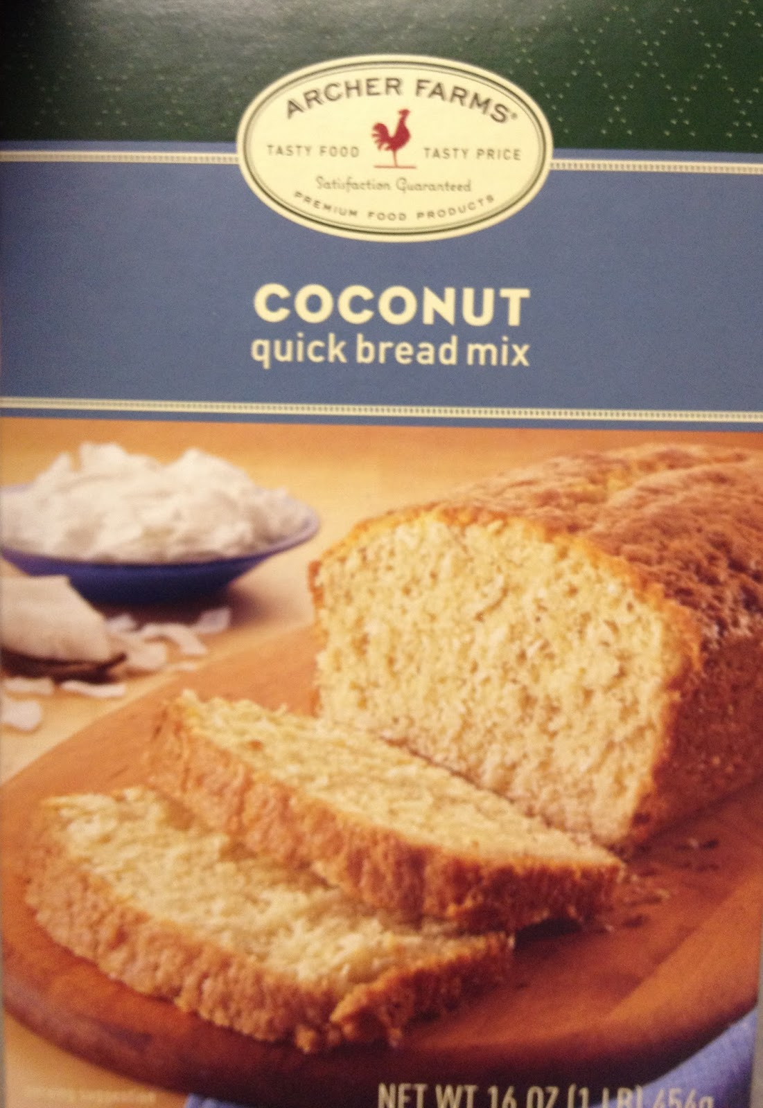 Archer Farms Products In Target Makes This Wonderful Coconut Box Mix I Know It Calls Itself Bread But There Is A Cupcake Recipe On The Back