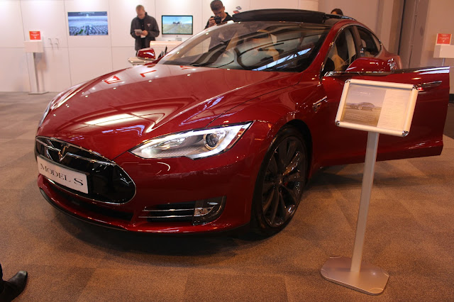 Photograph of a Tesla Model S