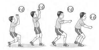 Latihan passing di lapangan bebas