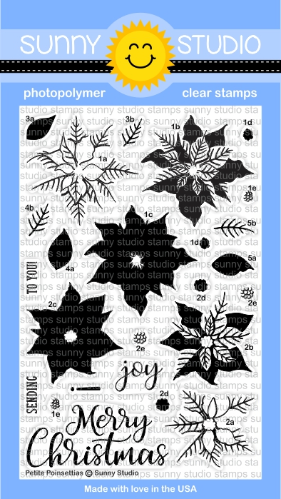 Sunny Studio Stamps Petite Poinsettia Stamp Set