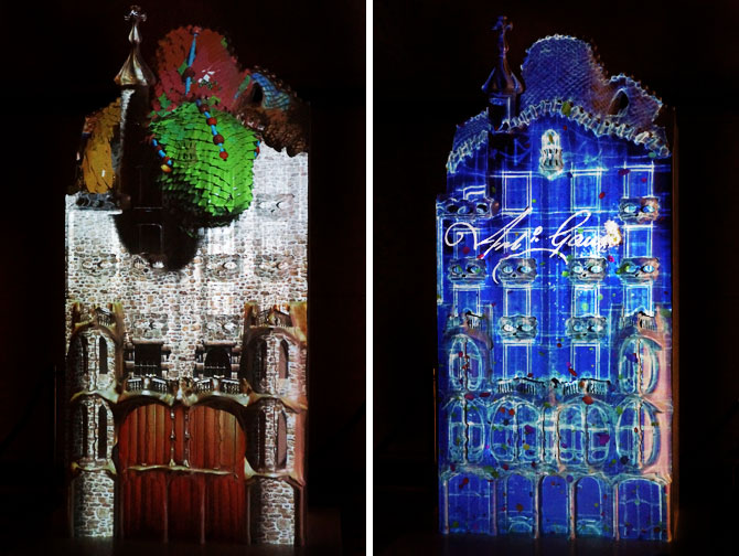 Projection d'animation sur la façade de la Casa Batllo