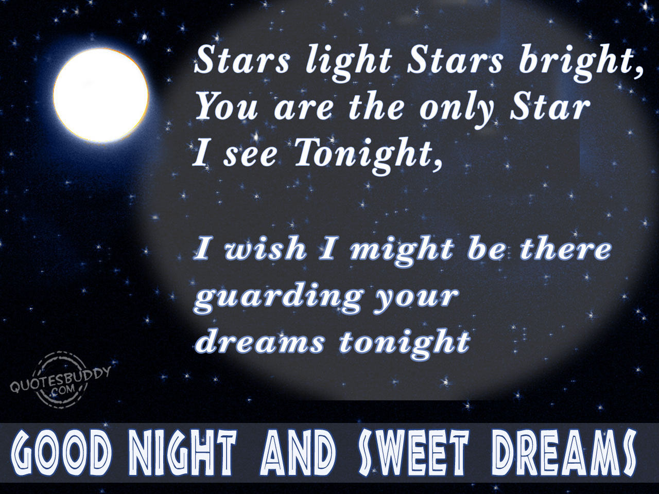 Romantic Good Night Love Quotes stars light stars bright you are the only star