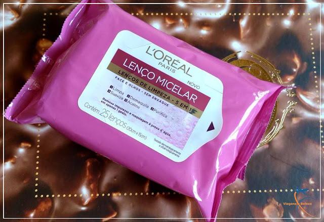 Lenço MIcelar 5 em 1, da L'Oréal