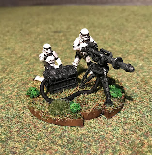 3D Printed E-Web heavy Blaster Crew for Star Wars Legion
