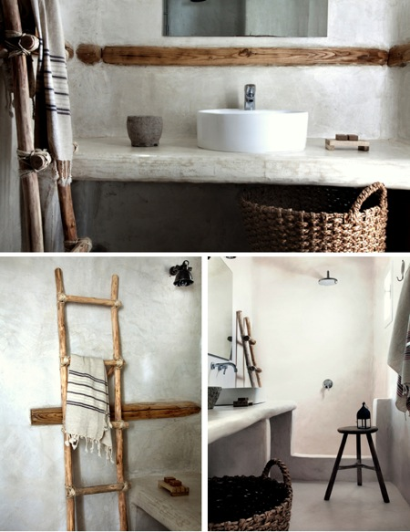 Natural modern interiors eclectic natural style san for Organic bathroom ideas