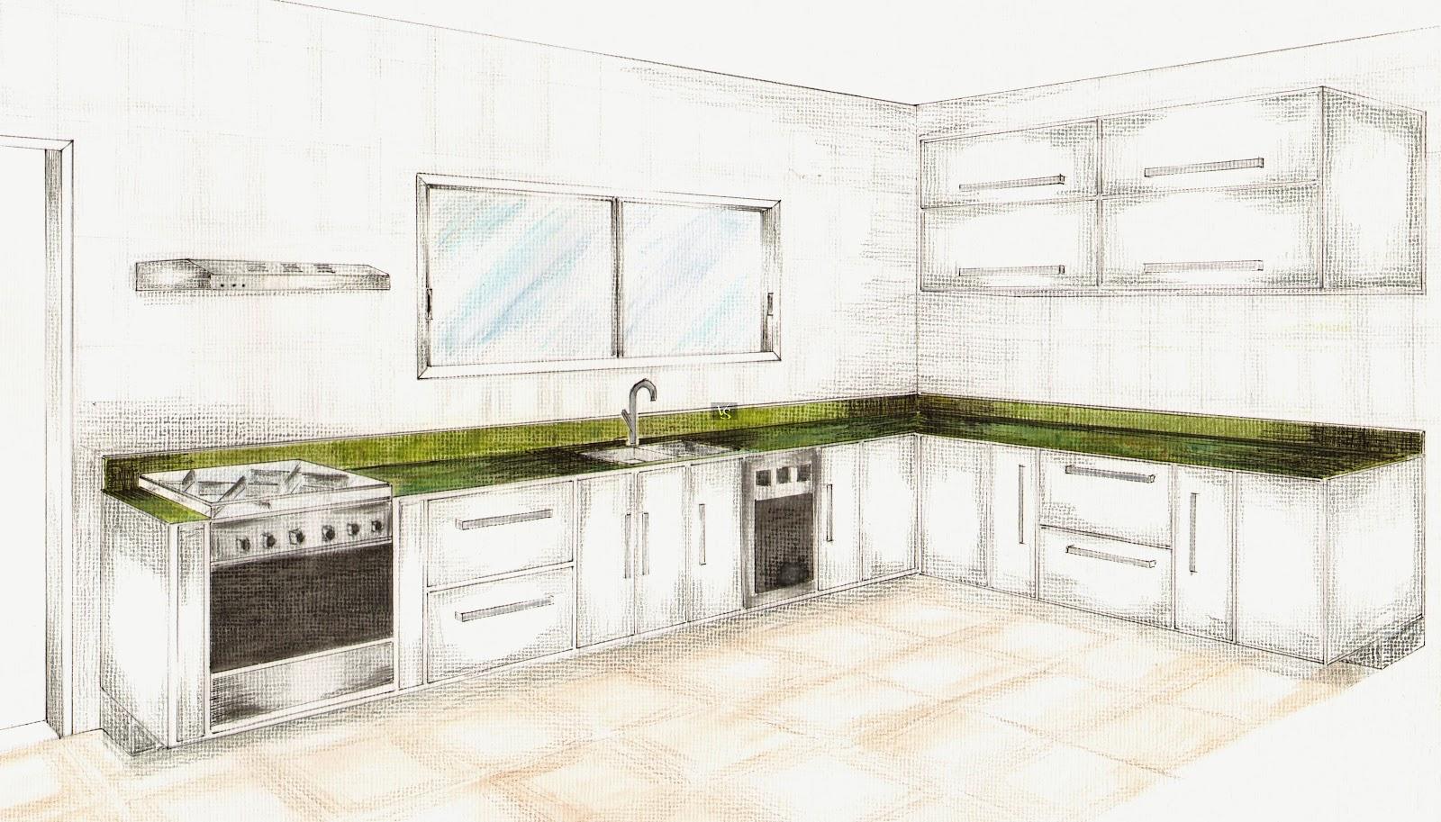 Desenho para pintar da Cozinha Completa para imprimir gratis #515B27 1600 913