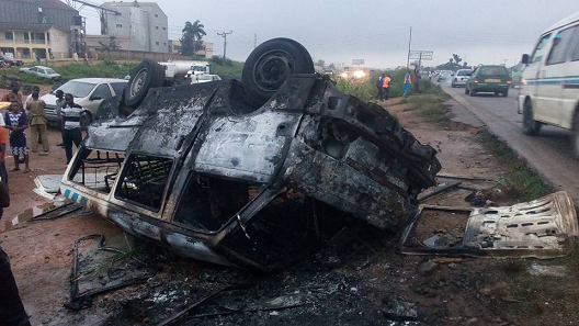12 burnt alive lagos ibadan road