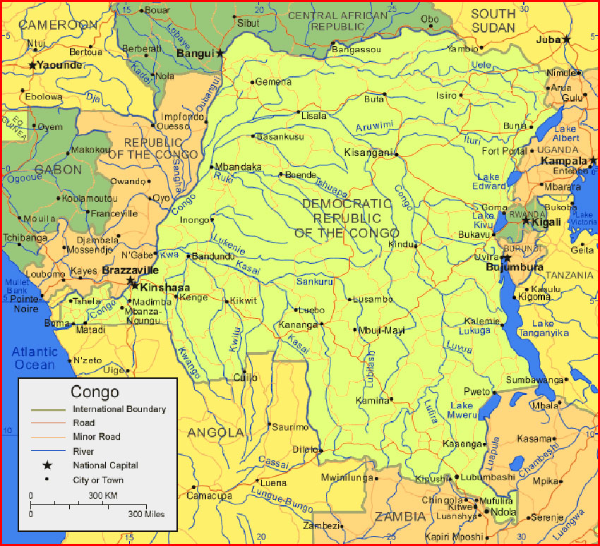 Democratic Republic of the Congo Map - Maps and Clipart on