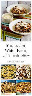 Mushroom, White Bean, and Tomato Stew with Parmesan found on KalynsKitchen.com