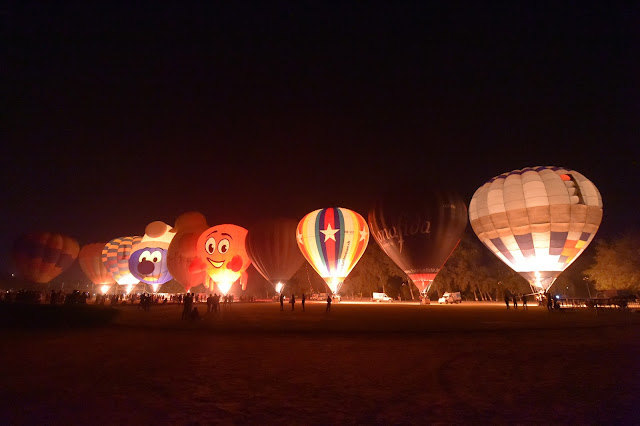 Night Glow in action at the Taj Balloon Festival