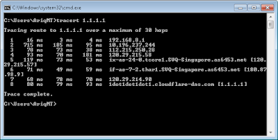 CMD Command Windows Tracert