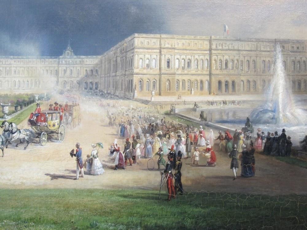 Vue de Chateau de Versailles en 1844