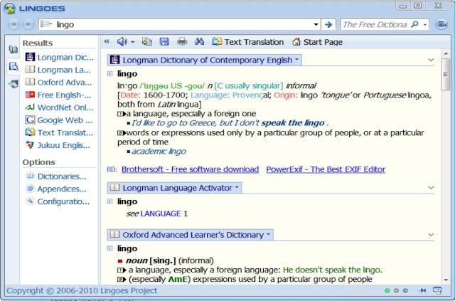Tải Lingoes - Bộ từ điển Anh Pháp Hoa Việt... Miễn Phí