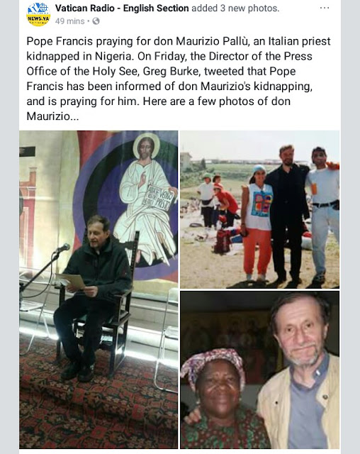 Italian priest reportedly kidnapped by gunmen in Edo State (photos)