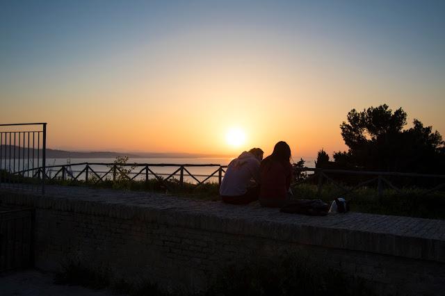 Tramonto dal Parco del Cardeto-Ancona