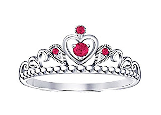 Pink Sapphire Stone .925 Sterling Silver Beautiful Princess Crown Ring