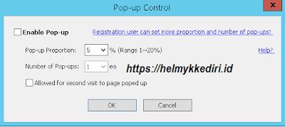 popup control