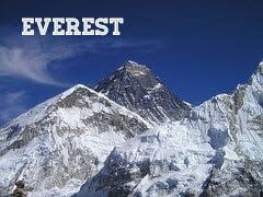 Gunung Everest di perbatasan Nepal dan Tibet